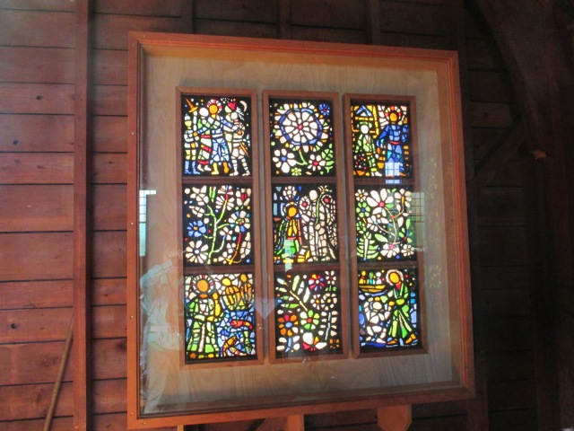 Stained sea glass in church, Cranberry Island, ME